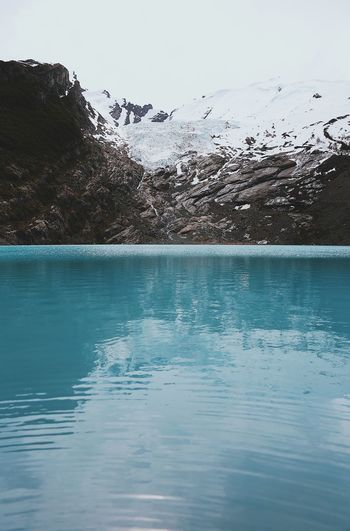 Water Beauty In Nature Mountain Scenics - Nature Waterfront Tranquility Tranquil Scene Cold Temperature Nature Day Sky Winter No People Snow Lake Idyllic Non-urban Scene Ice Outdoors Snowcapped Mountain Swimming Pool