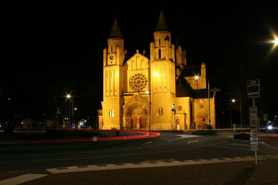 Church Maastricht Holland Night Lights Night Photography Nightphotography Church Architecture Churches Maastricht Maastricht,NL Night View Nightshot
