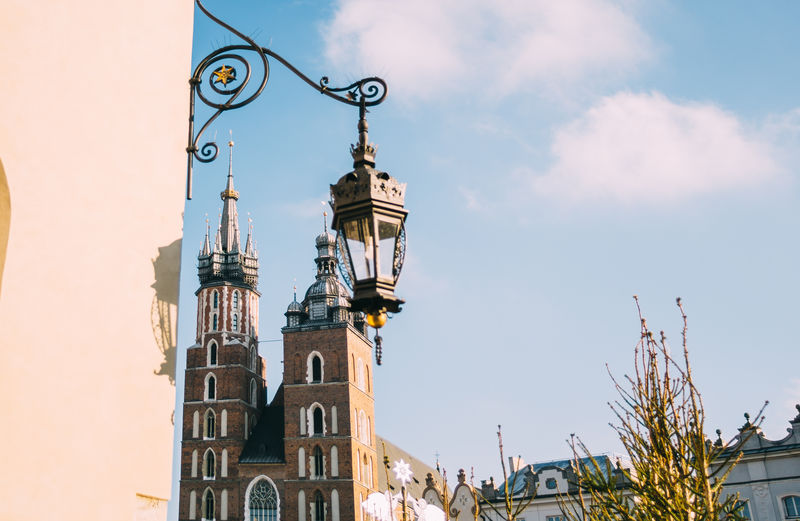 Krakow Poland Mariacki St Mary's Church Outdoors Building Tower City Travel Built Structure Architecture