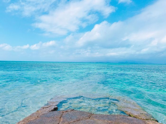 Taketomi, Okinawa Sky Cloud - Sky Water Sea Beauty In Nature Scenics - Nature Tranquility Nature No People Beach Non-urban Scene Day Outdoors Turquoise Colored Horizon Over Water Tranquil Scene Blue Land Idyllic Horizon