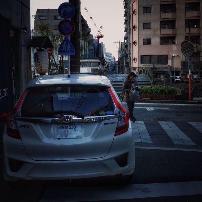 On The Street Corner Nearly Meganebashi Walking Around The City  Nagasaki City : Streetphoto_color Honda Fit Snapshots Of Life January2016 Evening Walk V-LUX1 50mm de Good night