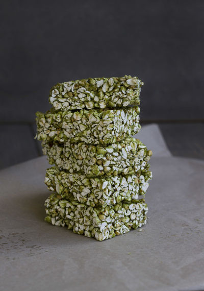 buckwheat matcha bars. vegan + glutenfree! Buckweat Dessert Green Food Matcha Bars Buckwheat Healthy Eating No-bake Sweets Vegan
