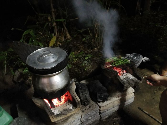Countryside Life Preparation  Smoke - Physical Structure Stove No People Steam Food Camping Stove