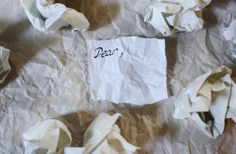 Crumpled up paper, dear 4 Crumpled Desktop EyeEm Selects StillLifePhotography Textured  Textures and Surfaces Word Background Backgrounds Close-up Crumpled Crumpled Paper Crumpled Paper Ball Dear High Angle View Message Note Paper Paperwork Still Life Texture Wallpaper White Color Words Written A New Beginning A New Perspective On Life The Minimalist - 2019 EyeEm Awards