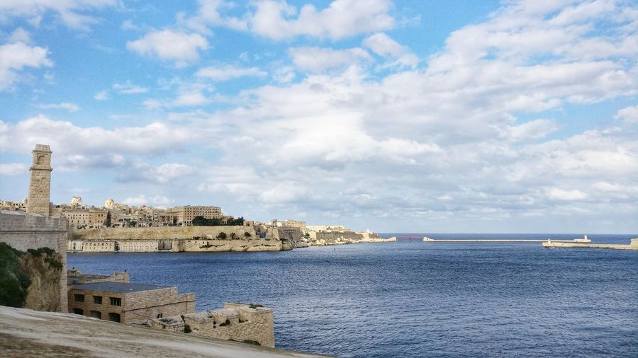 The grand Harbor. Sea Outdoors Travel Destinations Landscape Harbor No People Travelling Seascapes Maltaphotography Travel Photography Malta♥ Malta Cityscape Seascape Harbour Harbour View Seascape Photography Fort St Angelo Valletta,Malta Grand Harbour