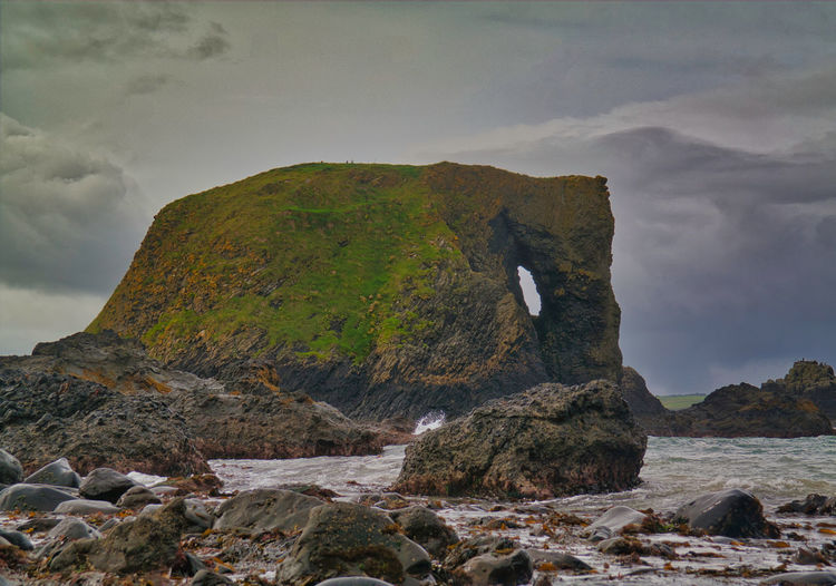Elephant Rock, Causeway Coast, Ireland. Ireland Elephant Rock Elephant Formation Outdoors Tranquil Scene One Animal Vertebrate Land Tranquility Day Sea No People Rock Formation Nature Scenics - Nature Cloud - Sky Water Beauty In Nature Mountain Solid Sky Rock - Object Rock Ballintoy Harbour