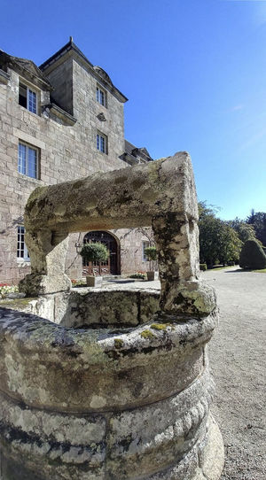 Manor House Manoir Breton Stang Architecture Built Structure Building Exterior Sky Building History Old The Past Day Nature Clear Sky No People Sunlight Solid Outdoors Plant Wall Ancient Old Ruin Stone Material Well  Stone Wall