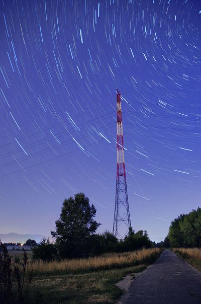 Nikkor Nikon Nikon D7000 Star Stars Startrails Startrail  Space Galaxy Sky Nightsky Evening Pylon Starry Starry Sky Starry Night Motion Astral Astronomy Rays Ray Light Universe Nature Landscape