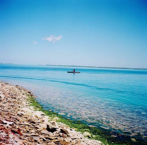 Boat Aquamarine Lubitel 166+ Real Film
