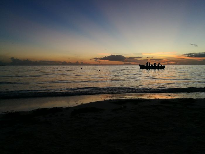 Water Nautical Vessel Sea Sunset Beach Oil Pump Wave Sand Silhouette Blue