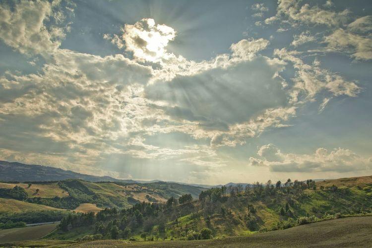 Paesaggio nei dintorni di Campobasso First Eyeem Photo Paesaggio Natura Raggi Di Sole