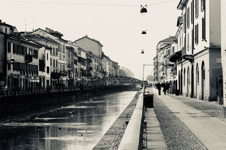 Milano - naviglio Building Exterior Built Structure Architecture City Sky Street Real People Transportation Lifestyles Residential District Water