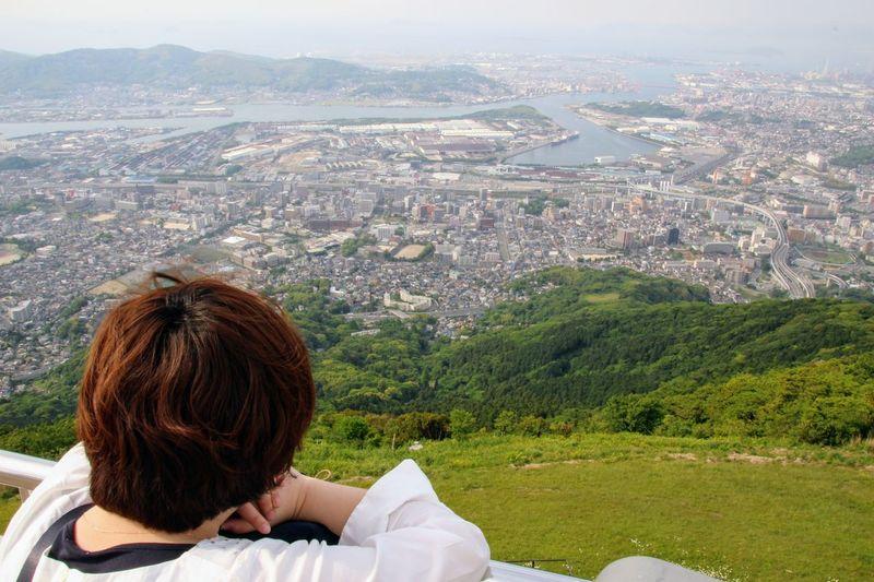 皿倉山 Building Exterior Built Structure Cityscape Landscape Mountain Mountain Range Rear View Scenics Sky