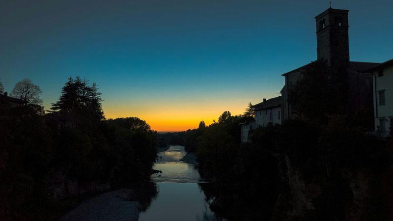 Ad un passo dalle tenebre Natisone Sunset River Tramonto Sky Darkness Ponte Del Diavolo Cividale Del Friuli Udine Friuli Venezia Giulia Italia