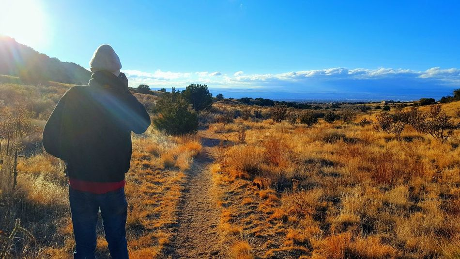 Activity Rock Sunny Mountain Range Mountain Travel Adventure Dry Landscape Sandia Mountain Hiking, Mountains, Adventure Outdoors Nature Scenics Sunny Day Rocks Sun Day Cloud - Sky Dirt Clouds And Sky Landscape Sky Horizon Over Land One Person Black Man