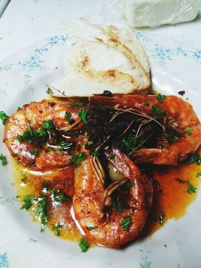 Shrimp With Anchovy Butter And Marinated Olives