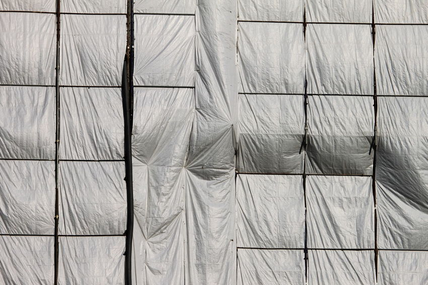 Backgrounds Construction Works Day Full Frame March 2017 Milano No People Outdoors Tarpaulins Textured  White Color