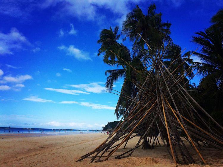 Island life.. Beach Sky Sea Sand Palm Tree Beauty In Nature Beachphotography Beachlife Islandlife Iosphotography Boracayislandphilippines.