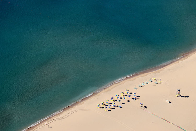 Moni tsambika beach - aerial view
