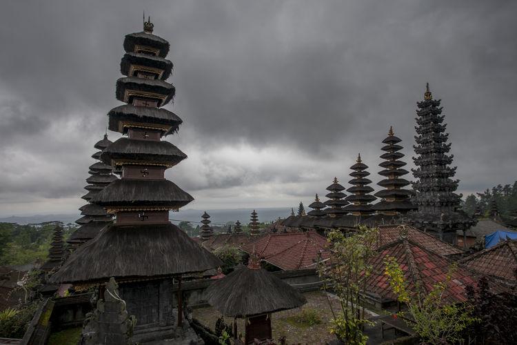 Temple Against Storm Clouds