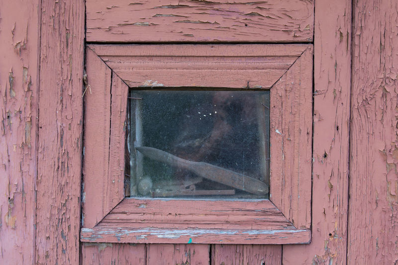 Wood - Material Window Day Architecture No People Old Built Structure Glass - Material Outdoors Building Exterior Building Weathered Entrance House Close-up Abandoned Red Door Transparent Reflection