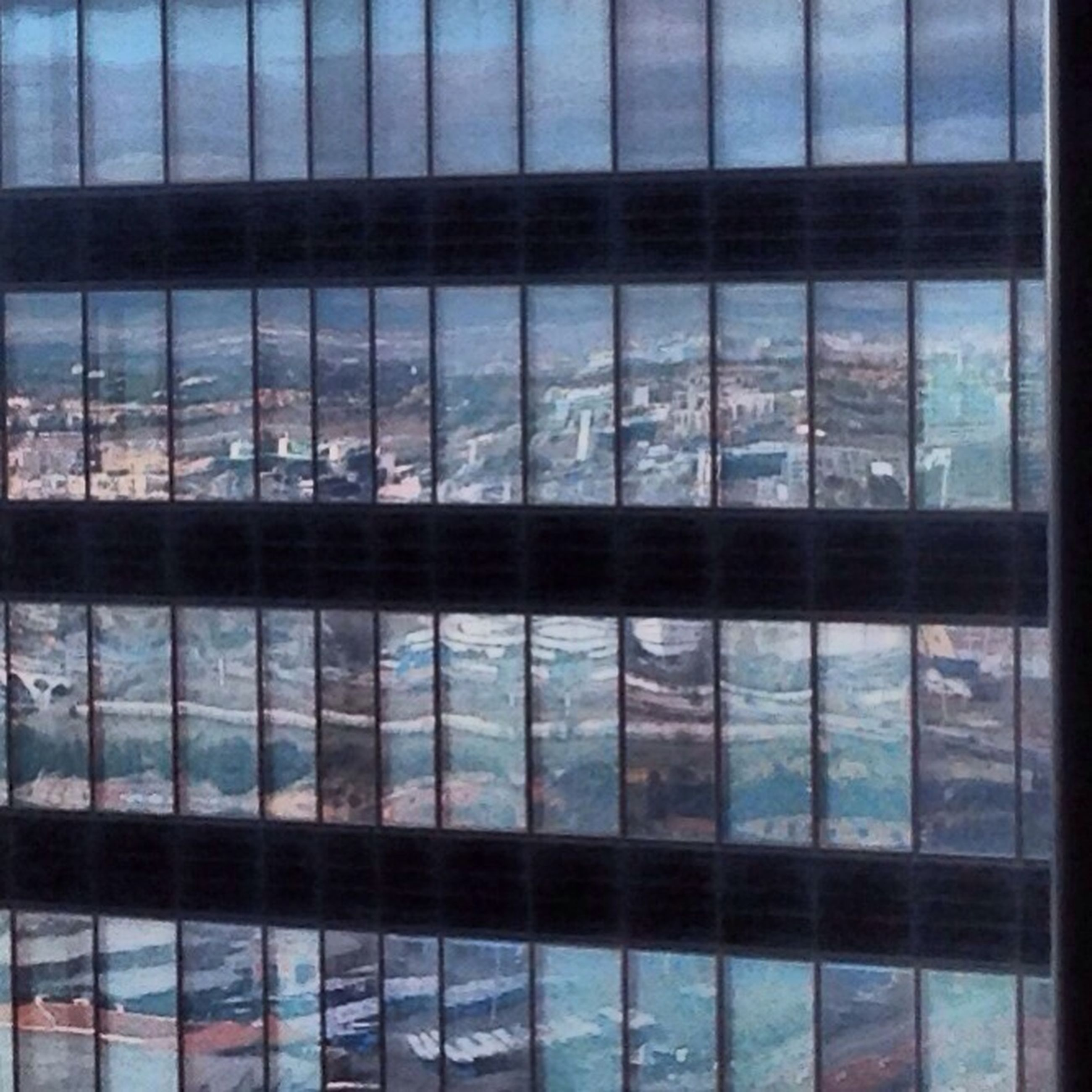 glass - material, architecture, built structure, window, reflection, building exterior, transparent, modern, pattern, indoors, glass, full frame, city, office building, building, day, backgrounds, sky, metal grate