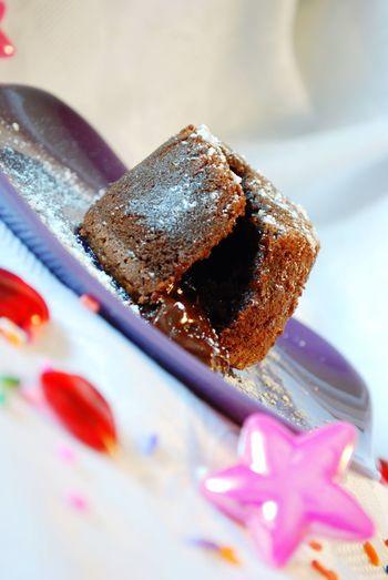 Holiday Desserts Molten Lava Cake Chocolate Fondant Heart Birthday Cake Party Baking Cake Festive Food Table Temptation Visual Feast