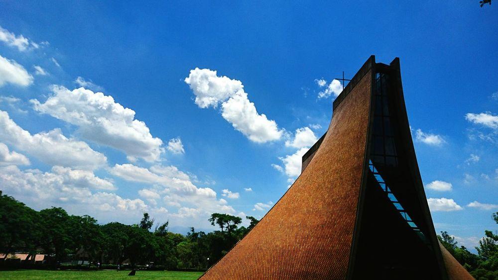 Luce Chapel Chapel Church Christain Building Sky Blue Sky Taiwan Tunghai University