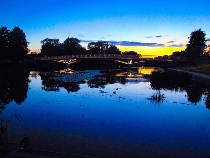 Sweden The True Story Eskilstuna-streetphotography The Great Outdoors - 2018 EyeEm Awards Astronomy Water Tree Sunset Blue Lake Reflection Multi Colored Silhouette Sky Reflection Lake