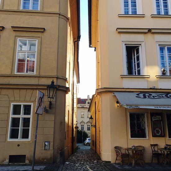 Middle Standing Sunset Prague Czech Republic Buildings