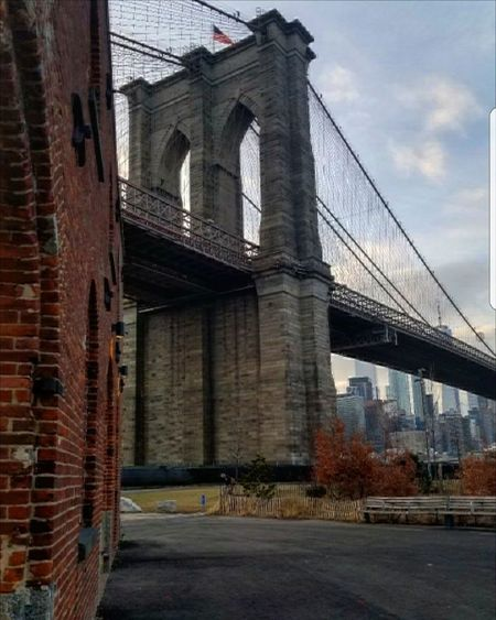 Brooklyn Bridge #bridge #Brooklynbridge #pier #NYC #dumbo Bridge - Man Made Structure Connection Architecture Built Structure Transportation Outdoors Suspension Bridge