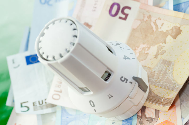 Banknotes Charges Close-up Coin Currency Day Euro Expenses Finance Heater Thermostat Heating Costs Heating Thermostat Indoors  No People Notes Number Paper Currency Savings Settlement Thermostat Wealth