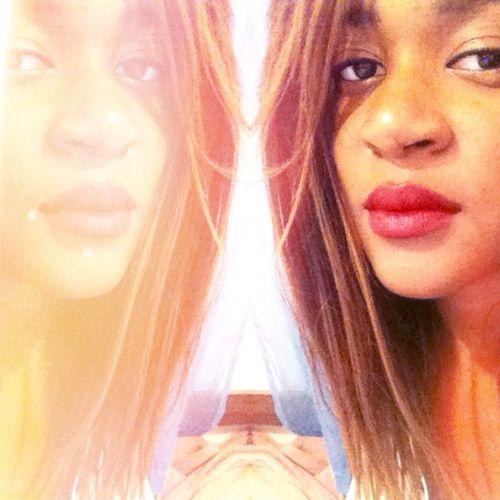 Be Youself Seeyou Seeme Red Redlips Red Lips Bobhaircut Bobhair That's Me