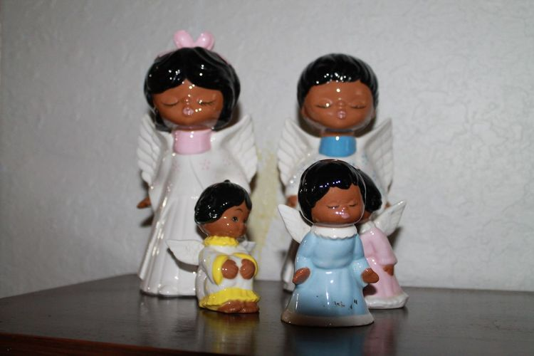 Angels Black Hair Cute Family Human Representation Indoors  Man No People Small Woman