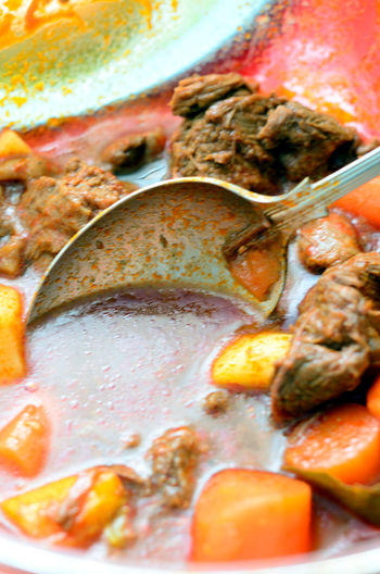 Bakareta Casserole Close-up Cooked Filipino Food Food And Drink Freshness Healthy Eating Meal Meat Ready-to-eat Spoon Stew Still Life