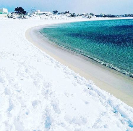 First Eyeem Photo Nature Scenics Water Beach Beauty In Nature Sea Sky No People Day Snow ❄ Beautifulday Sicily Genuary Sea And Sky Neve Mare Beatuiful