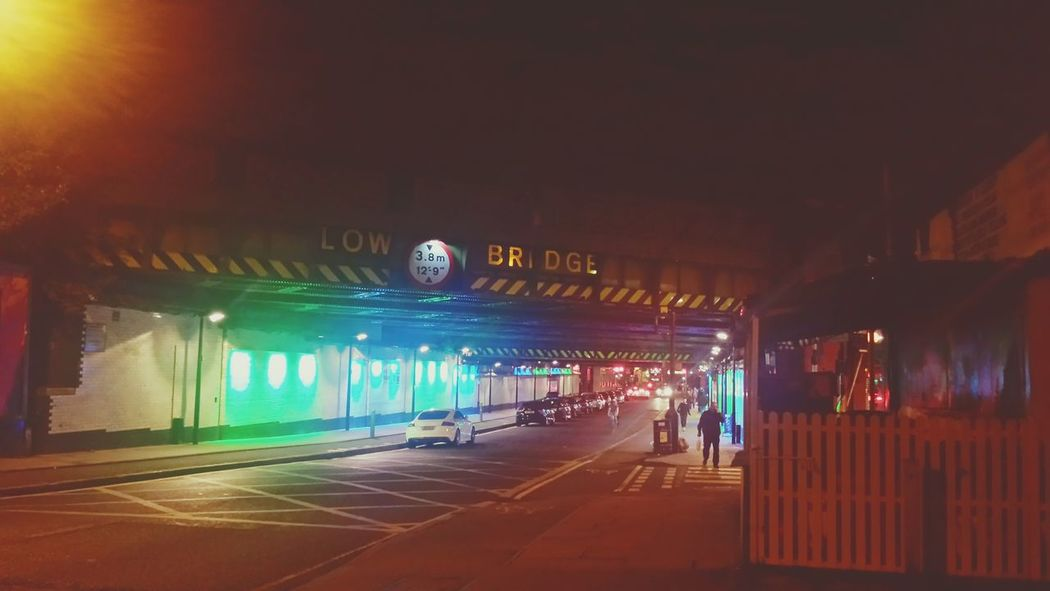 Finsbury Park Tube Bright Lights London City Overland Trains Night Photography Bridge