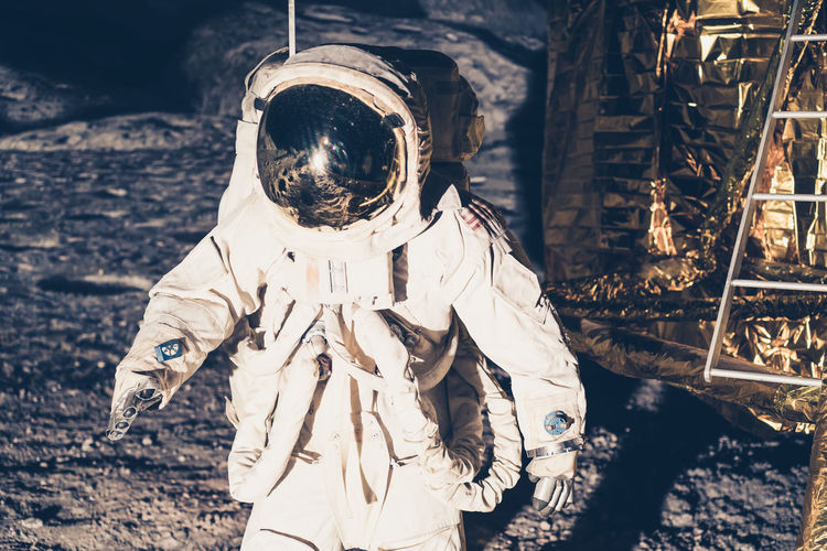 Science Astronaut Day Disguise Focus On Foreground Front View Land Mask Nature Obscured Face Outdoors People Protection Real People Representation Security Spooky Standing Sunlight Unrecognizable Person