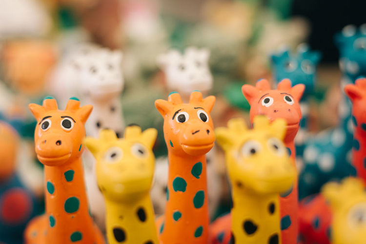 Close-Up Of Toy Giraffes