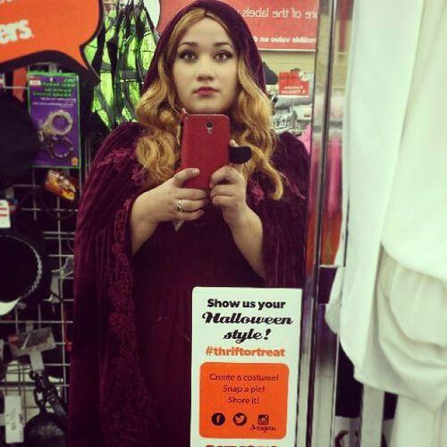 Redriddinghoodcostume Redriddinghood Valuevillage Costumeconsultant halloweenideas halloween redcape blondhair