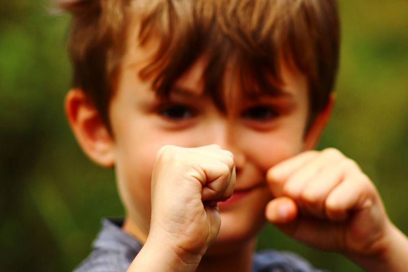 The Fighter Fists Up Child Childhood Boys Males  Portrait The Portraitist - 2018 EyeEm Awards One Person Focus On Foreground Headshot Human Hand Close-up Offspring Real People Day Innocence