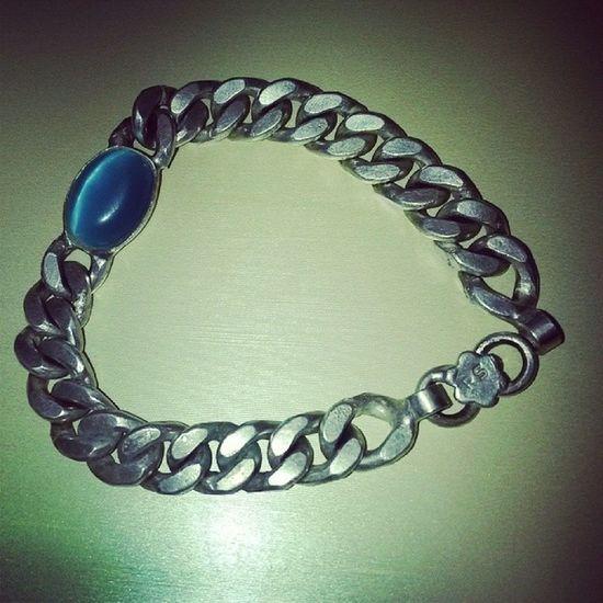 24crt silvr braclet wid blue stone Salmankhan Braclet Ferozaorginal Beinghuman jaiho inshop