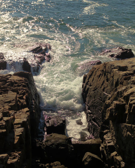 Maine Marginal Way Beauty In Nature Day Motion Nature No People Outdoors Power In Nature Rock - Object Rock Formation Scenics Sea Water Wave