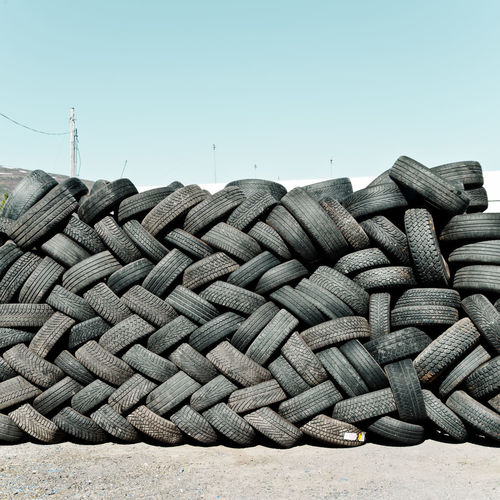New Topographics Landscape Industrial Tires Minimalism Clear Sky Business Finance And Industry