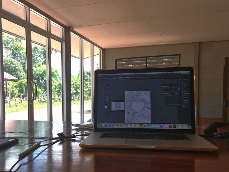 Home Is Where The Art Is Work & Relax from home Illustrator Mac Book Pro Work From Home