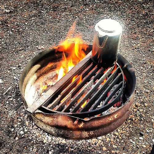 Goodmorning Camping Firstoneup Coffee fire