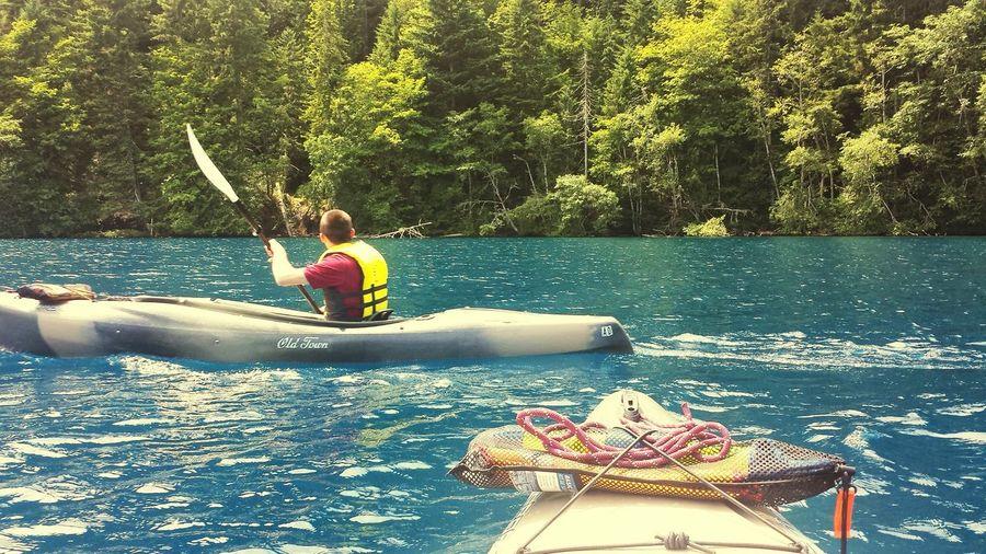 Kyaking Lake Crescent, Washington. Summer Time ☀ Outdoors Olympic Northwest