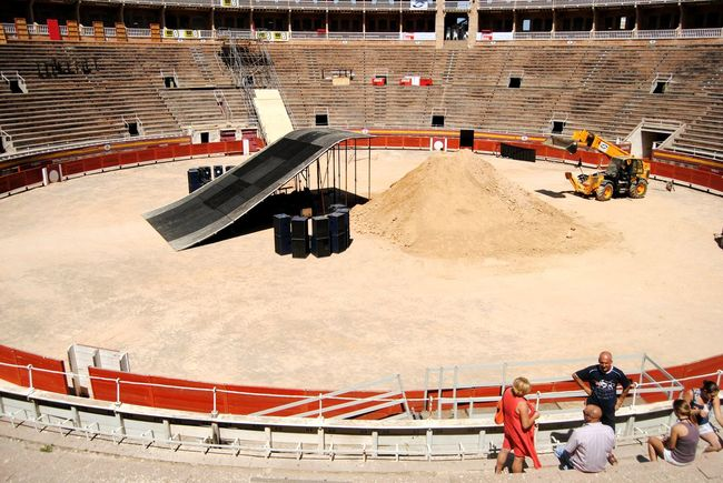 Loved this setting, pity it wasn't season time. Bullfighting Palma De Mallorca SPAIN Sunny Afternoon Construction Site Ramp Bloodsport Matador Preparation  Tourist Telling Stories Differently