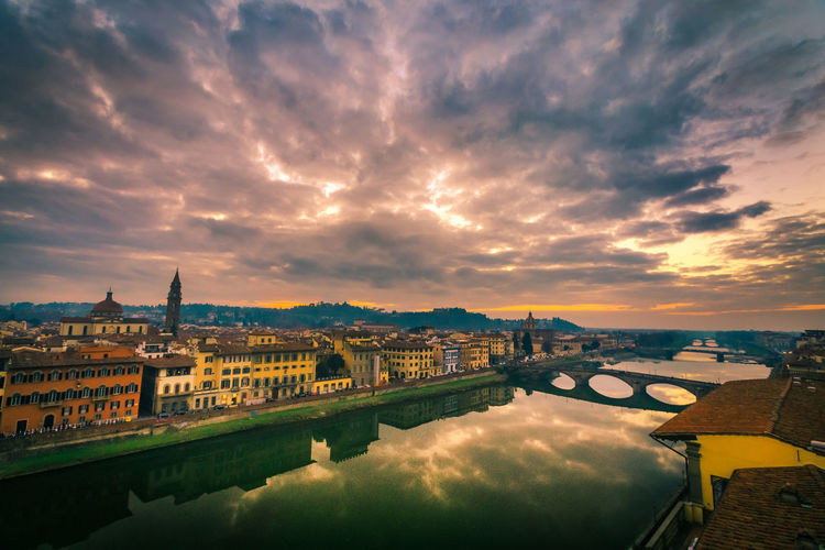 Florence Sunset new edit Architecture Bridge - Man Made Structure Building Exterior Built Structure City Cityscape Cloud - Sky Cloud And Sky Florence Florence Italy Italia Italy Night No People Outdoors Reflection River Scenics Sky Sky Porn Sunset Travel Destinations Urban Skyline Water Water Relections