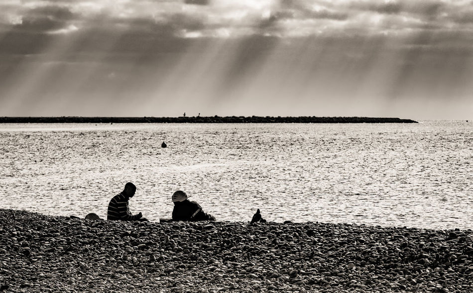 Blackandwhite Black And White Seascape Sea And Sky Landscape Landscape_Collection People Beach Beautiful